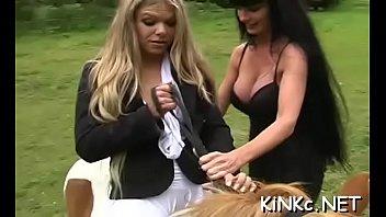 Hottie makes slave waiter on her