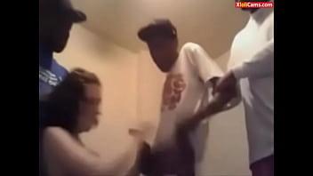 White Girl and 4 Black Guys on Cam