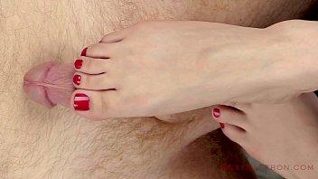 Close-Up: Sensual Handjob &amp_ Footjob