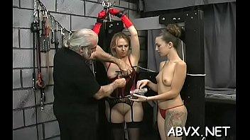 Neat amateur babes hard sex in bondage bizarre show