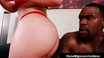 Big Black Cock Rome Major Slams Hot Blonde Carmen Valentina!