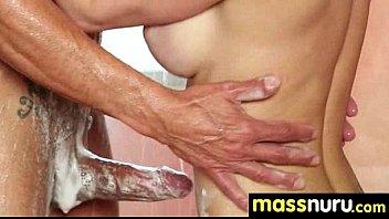 Naughty chick gives an amazing Japanese massage 7
