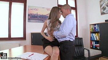 Rebel Lynn has orgasms on her boss'_ dick