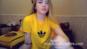 Cute Teen teases on webcam