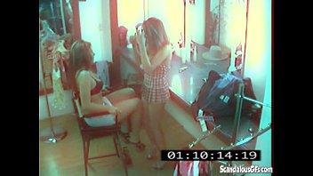 CCTV Captures A Hot And Skanky Lesbian Affair