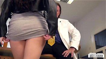 BUMS BUERO - German brunette babe Lullu Gun gets banged by boss in the office