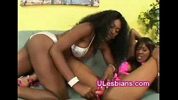 Naughty lesbian ebony goes rough fucking her black beauty gf