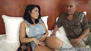 Teen latina rides grandpa