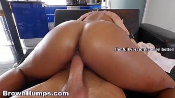 BrownHumps.com - Beautiful Black Pornstar Harley Dean Rides Her Butler'_s Dick