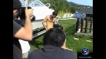 Behind the scenes hardcore fuck featuring Sylvie Taylor, Nikki Montana and Maria