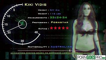 Porn Goes Pro - Watch Australian beauty Kiki Vidis fucking a big dick in POV