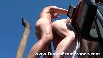 European gay assfuck outdoor action