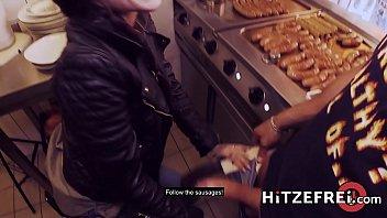 HITZEFREI Lullu Gun gets herself a real German sausage