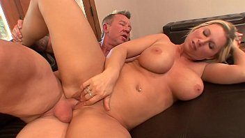 Busty slut Devon Lee takes a hard cock in her warm cunt doggystyle on the couch