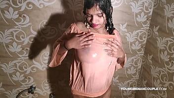 Cute Indian Teen Taking Shower With Seductive Bollywood Song Jalta Hai Badan With Masturbation
