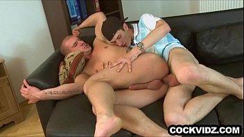Sexy stud riding a big cock bareback