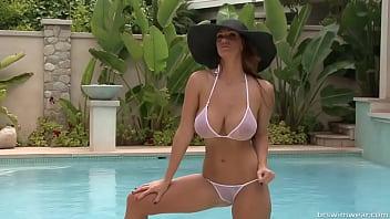 Alison Tyler - micro bikini photo shoot 1
