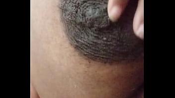 Ebony Mom groping big tits