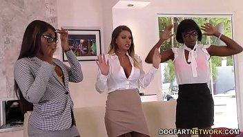 Lesbian Brooklyn Chase, Ana Foxxx &amp_ Skyler interracial lesbo skyler-nicole