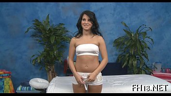 Girl undresses before fellow