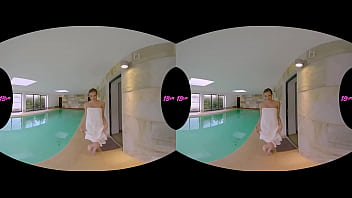 Busty Blonde Teen Stacy Cruz in Poolside VR Sex