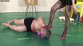 Japanese Femdom Mayumi Facesitting and Face Trample Humiliation