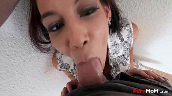 Mommy Cock Sucking Son POV pervmom family-sex stepmother
