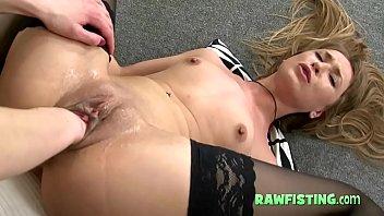 Exotic lesbian fist in a vagina