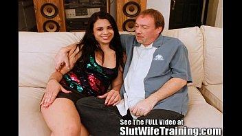 Big ass latina Julia trained to be a good wife