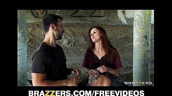 FIT redhead pornstar Karlie Montana is fucked hard in public