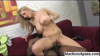 Mega hot blonde with huge tits fucks a bbc