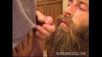 Mature man randy jerks off