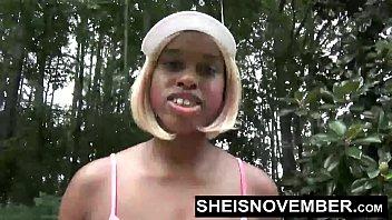 Big Ass Black Girl Walking In Public Flashing Beautiful African American Booty Panties Down Msnovember