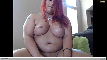 Hot Redhead BBW sabrinaprado Webcam Oil Squirt pt.2