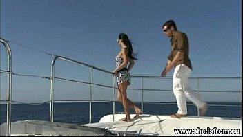 Scopata su una barca