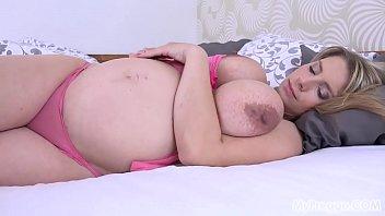 Pregnant Katerina Hartlova Slowly Strips and Masturbates!