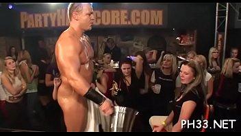 Blonde cute waiter fucks everyone drips every thing fingering asses
