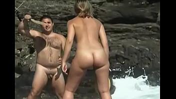 Nudist beach girl - hairy nudist
