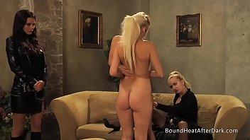 Mistress And Handmaiden: Busty Slave Masturbates In Bondage