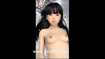 149cm Ryoka young teen sex dolls on bikini black hair braid