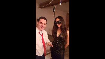 Princess Marx squeezes and slaps Andrea Diprè's balls