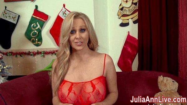 Busty Milf Julia Ann Sucks Off Santa!