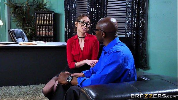 Brazzers - Riely Reid sucks some big black cock