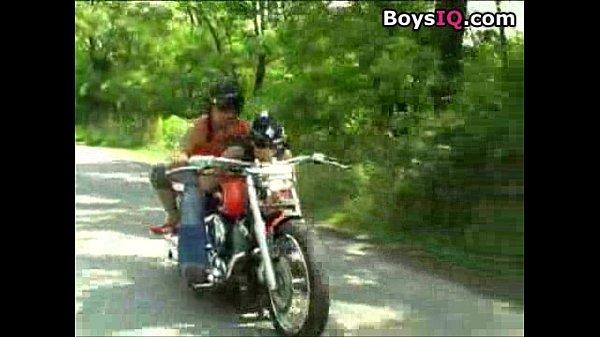 Interracial motorcycle sex