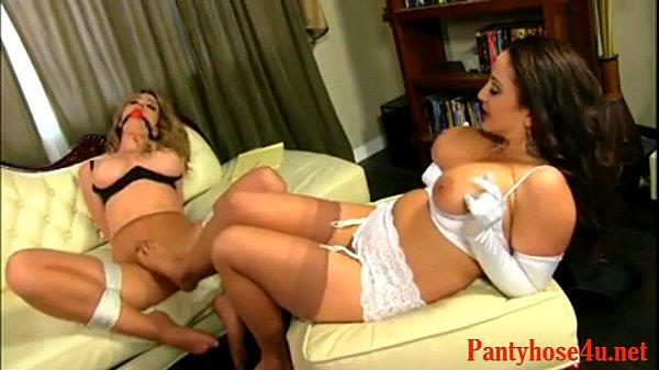 Порно видео колготки и большая грудь