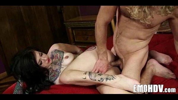 Emo slut with tattoos 1061