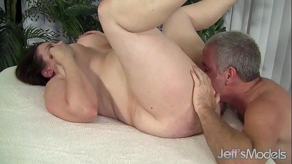 Chubby milf rubee fucked and eats cum