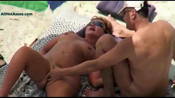 Nude BEACH Mature VOYEUR 3some