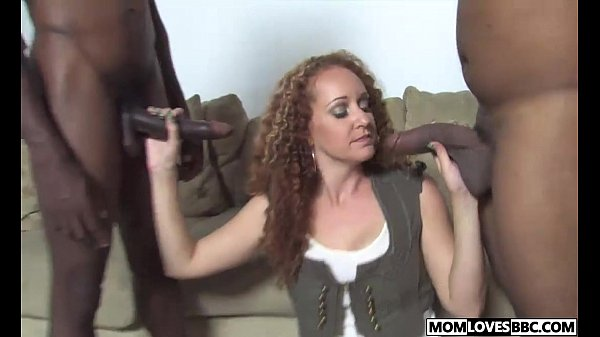 Two huge black dicks for mom Kitty Caulfield