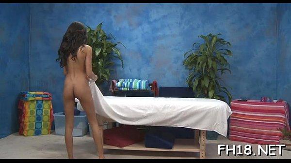 Girl undresses before stud